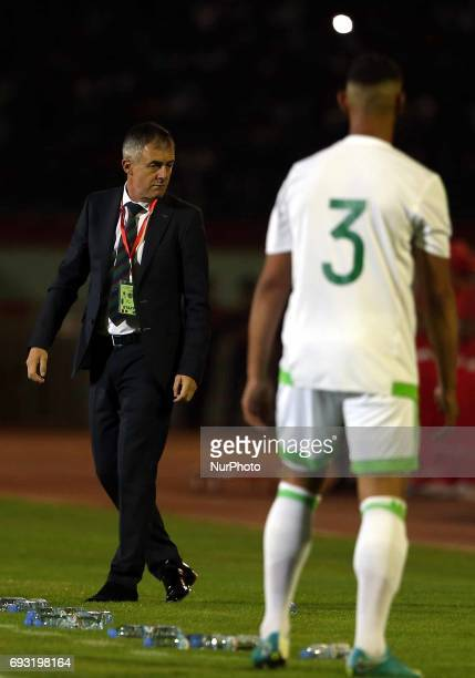 Lucas Alcaraz coach of the Algerian team during Friendly Match Algeria vs Guinea at the Mustapha Tchaker Stadium in Blida Algeria on 6 June 2017