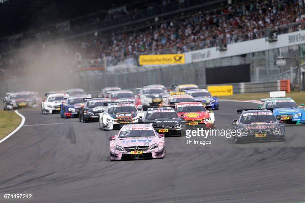Lucas Auer and Marco Wittmann and Bruno Spengler and Edoardo Mortara and Augusto Farfus Tom Blomqvist drives during the race of the DTM 2016 German...