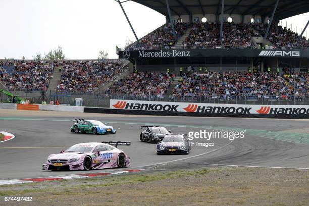 Lucas Auer and Marco Wittmann and Bruno Spengler and Edoardo Mortara drives during the race of the DTM 2016 German Touring Car Championship at...