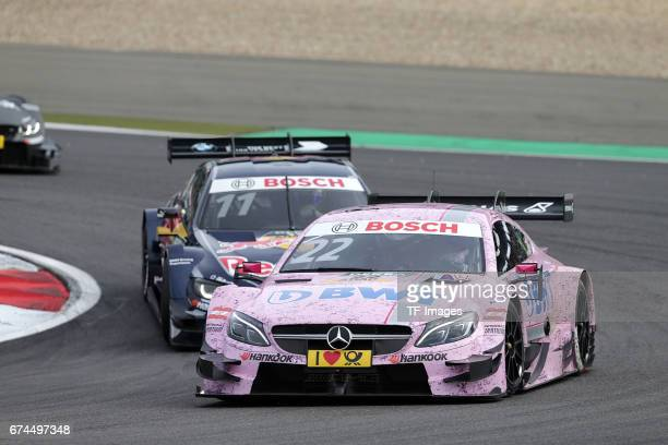 Lucas Auer and Marco Wittmann drives during the race of the DTM 2016 German Touring Car Championship at Nuerburgring on Septembmber 10 2016 in...