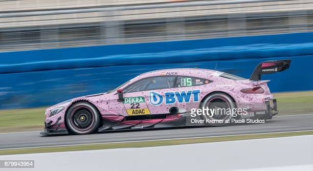 Lucas Auer of MercedesAMG DTM Team HWA during the DTM free practice session 3 at the Hockenheimring on Day 2 of the DTM German Touring Car Masters...