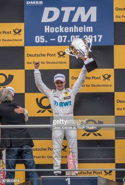 Lucas Auer of MercedesAMG DTM Team Muecke wins the DTM Race Session 1 at the Hockenheimring during Day 0 of the DTM German Touring Car Masters Race...