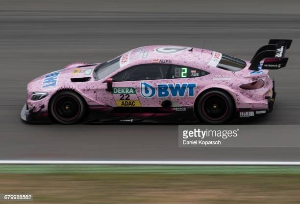 Lucas Auer of MercedesAMG Motorsport BWT in action during race 2 of the DTM German Touring Car Hockenheim at Hockenheimring on May 7 2017 in...