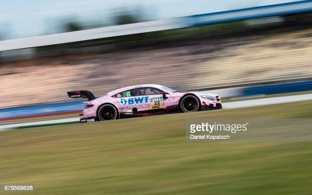 Lucas Auer of MercedesAMG Motorsport BWT in action during the qualifying for race 1 of the DTM German Touring Car Hockenheim at Hockenheimring on May...