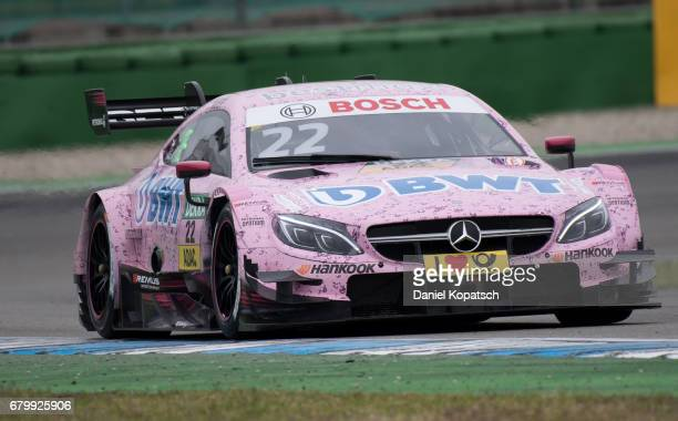 Lucas Auer of MercedesAMG Motorsport BWT in action during the qualifying for race 2 of the DTM German Touring Car Hockenheim at Hockenheimring on May...