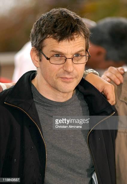 Lucas Belvaux during 2005 Cannes Film Festival 'Joyeux Noël' Photocall at Palais de Festivals in Cannes France