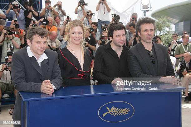 Lucas Belvaux Natacha Regnier Eric Caravaca and Gilbert Melki at the photo call of 'La Raison du plus faible' during the 59th Cannes Film Festival