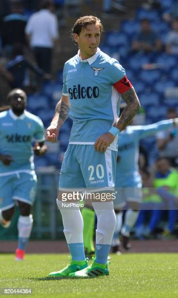 Lucas Biglia during the Italian Serie A football match between SS Lazio and US Sampdoria at the Olympic Stadium in Rome on may 7 2017
