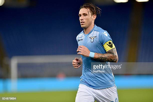 Lucas Biglia during the italian Serie A match between SS Lazio and Frosinone at Stadio Olimpico in Rome on October 4 2015