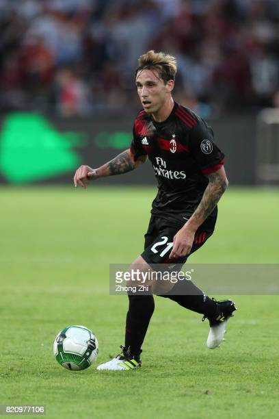 Lucas Biglia of AC Milan during the 2017 International Champions Cup football match between AC Milan and FC Bayern Muenchen on July 22 2017 in...