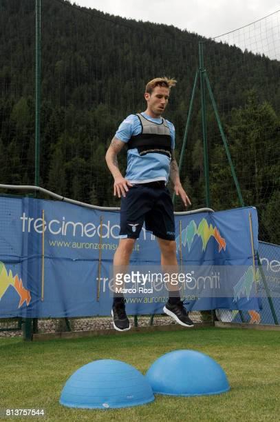 Lucas Biglia of SS Lazio during the SS Lazio PreSeason Training Camp Day 4 on July 13 2017 in Pieve di Cadore Italy