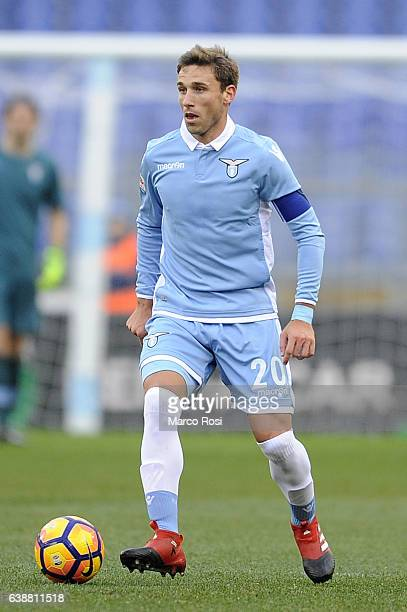 Lucas Biglia of SS Lazio in action during the Serie A match between SS Lazio and FC Crotone at Stadio Olimpico on January 8 2017 in Rome Italy