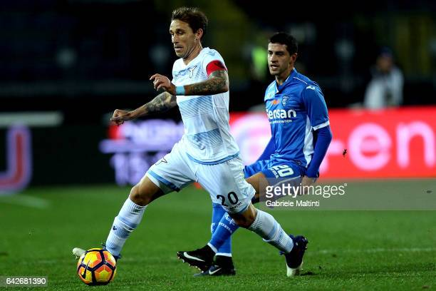 Lucas Biglia of SS Lazio in action during the Serie A match between Empoli FC and SS Lazio at Stadio Carlo Castellani on February 18 2017 in Empoli...