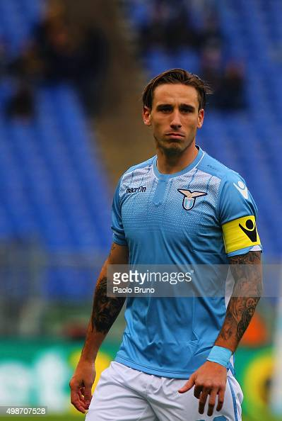 Lucas Biglia of SS Lazio looks on during the Serie A match between SS Lazio and US Citta di Palermo at Stadio Olimpico on November 22 2015 in Rome...