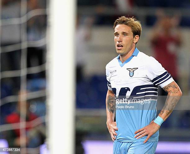 Lucas Biglia of SS Lazio shows his dejection after the Serie A match between SS Lazio and FC Internazionale Milano at Stadio Olimpico on May 10 2015...