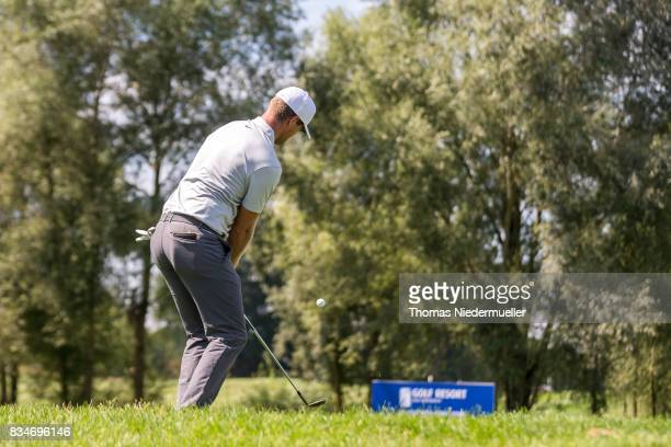 Lucas Bjerregaard of Denmark is seen during day two of the Saltire Energy Paul Lawrie Matchplay at Golf Resort Bad Griesbach on August 18 2017 in...