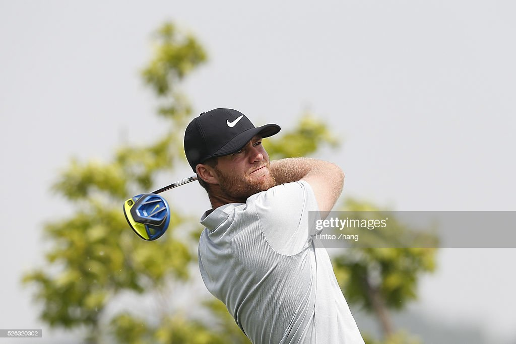 <a gi-track='captionPersonalityLinkClicked' href=/galleries/search?phrase=Lucas+Bjerregaard&family=editorial&specificpeople=6215709 ng-click='$event.stopPropagation()'>Lucas Bjerregaard</a> of Denmark plays a shot during the third round of the Volvo China open at Topwin Golf and Country Club on April 30, 2016 in Beijing, China.