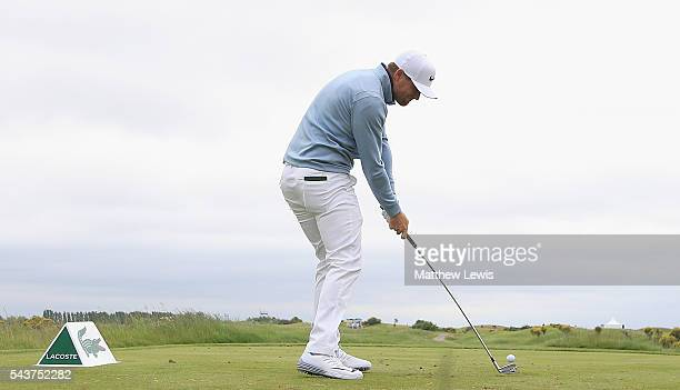 Lucas Bjerregaard of Denmark tees off on the 10th hole during day one of the 100th Open de France at Le Golf National on June 30 2016 in Paris France