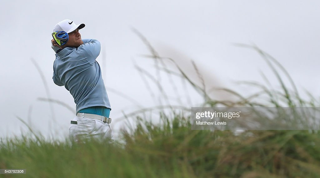 <a gi-track='captionPersonalityLinkClicked' href=/galleries/search?phrase=Lucas+Bjerregaard&family=editorial&specificpeople=6215709 ng-click='$event.stopPropagation()'>Lucas Bjerregaard</a> of Denmark tees off on the 9th hole during day one of the 100th Open de France at Le Golf National on June 30, 2016 in Paris, France.