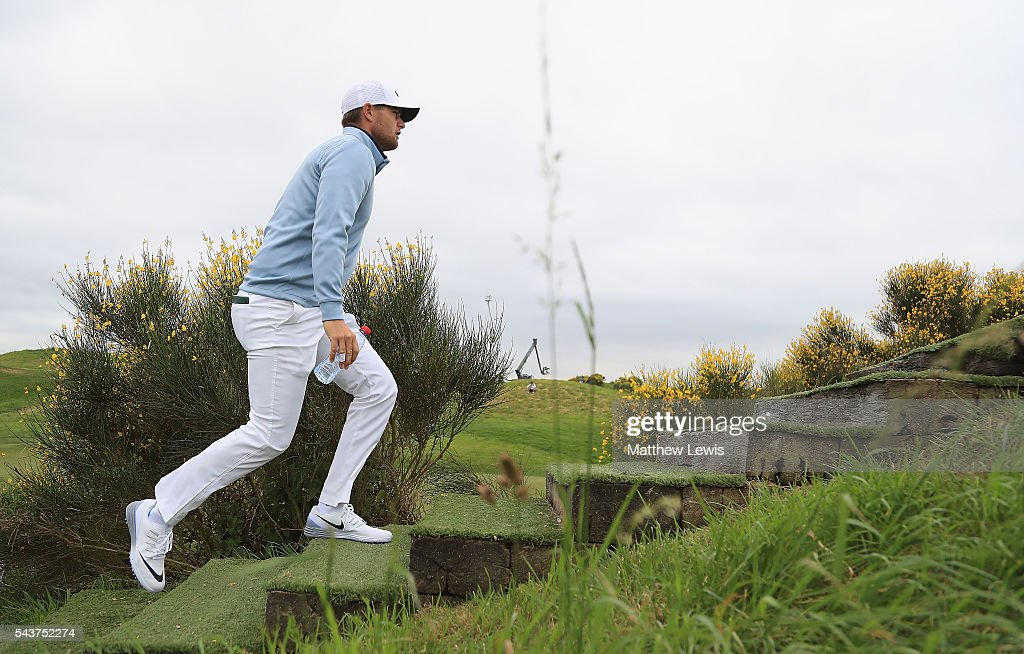 <a gi-track='captionPersonalityLinkClicked' href=/galleries/search?phrase=Lucas+Bjerregaard&family=editorial&specificpeople=6215709 ng-click='$event.stopPropagation()'>Lucas Bjerregaard</a> of Denmark walks to the 9th hole during day one of the 100th Open de France at Le Golf National on June 30, 2016 in Paris, France.