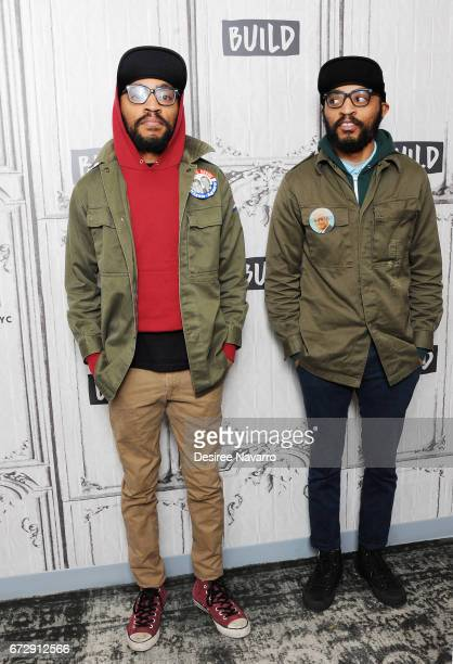 Lucas Brothers Keith and Kenny Lucas attend Build Series to discuss 'Lucas Brothers On Drugs' at Build Studio on April 25 2017 in New York City