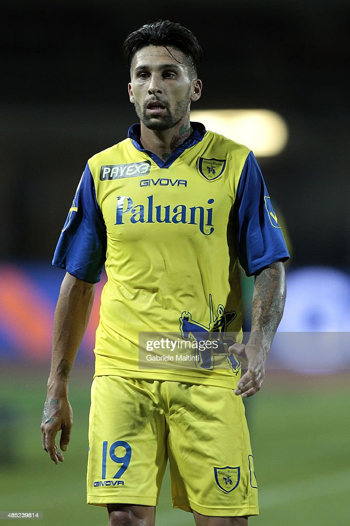 Lucas Castro of AC Chievo Verona in action during the Serie A match between Empoli FC and AC Chievo Verona at Stadio Carlo Castellani on August 23...