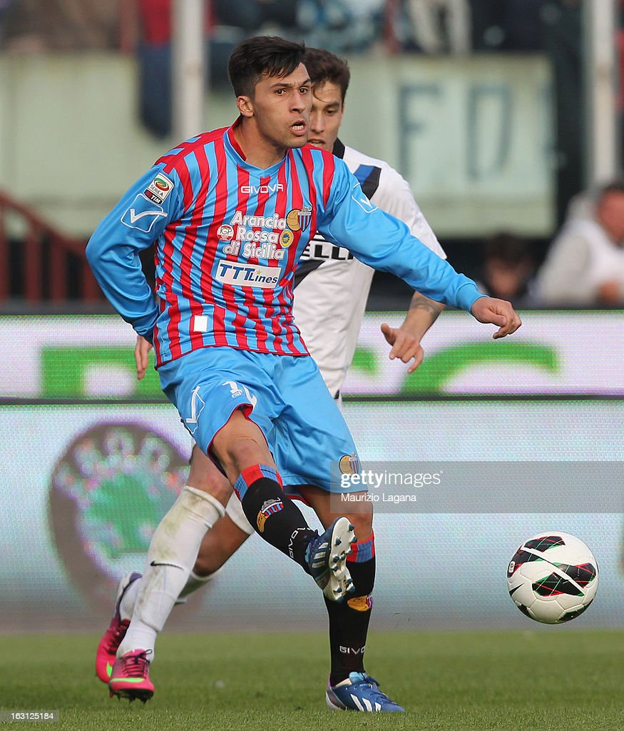 Lucas Castro of Calcio Catania during the Serie A match between Calcio Catania and FC Internazionale Milano at Stadio Angelo Massimino on March 3...