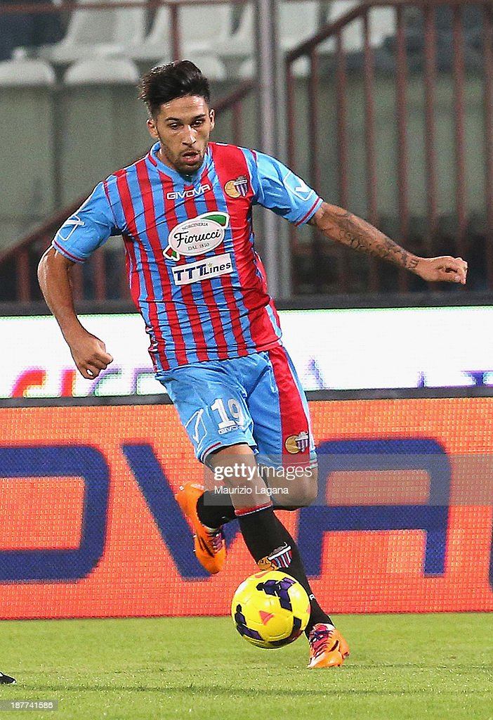 Lucas Castro of Catania during the Serie A match between Calcio Catania and Udinese Calcio at Stadio Angelo Massimino on November 9 2013 in Catania...