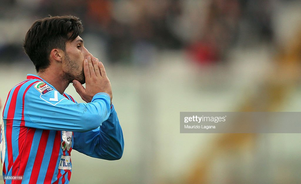 Lucas Castro of Catania during the Serie A match between Calcio Catania and AC Milan at Stadio Angelo Massimino on December 1 2013 in Catania Italy