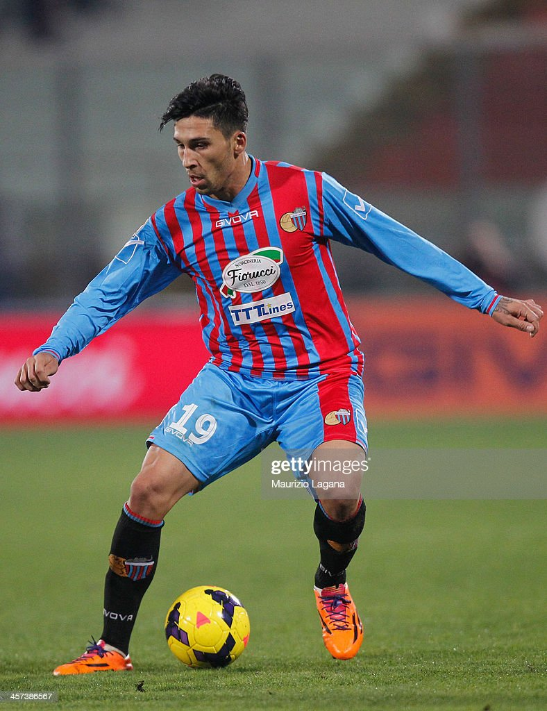 Lucas Castro of Catania during the Serie A match between Calcio Catania and Hellas Verona at Stadio Angelo Massimino on December 14 2013 in Catania...