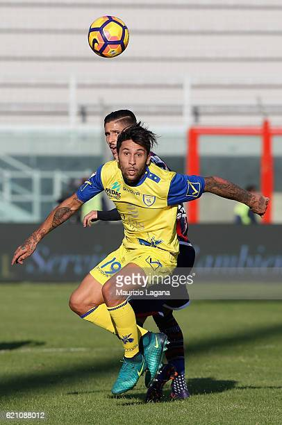 Lucas Castro of Chievo during the Serie A match between FC Crotone and AC ChievoVerona at Stadio Comunale Ezio Scida on October 30 2016 in Crotone...