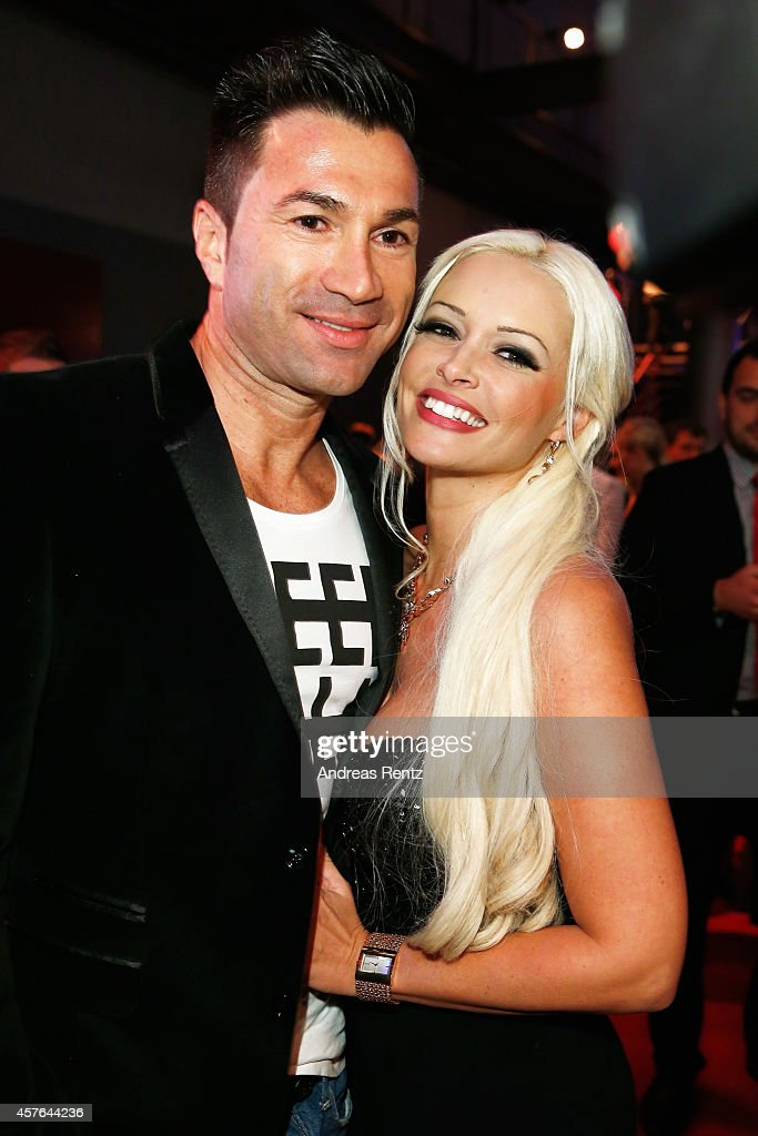 Lucas Cordalis and Daniela Katzenberger attend the 18th Annual German Comedy Awards at Coloneum on October 21, 2014 in Cologne, Germany. The show will be aired on RTL on October 25.