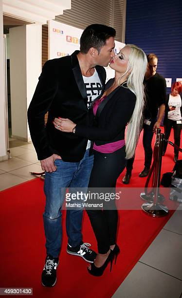 Lucas Cordalis and Daniela Katzenberger attend the RTL Telethon 2014 on November 20 2014 in Cologne Germany