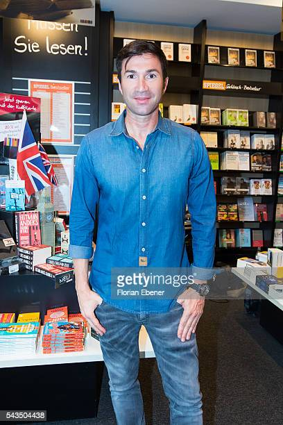 Lucas Cordalis attends Daniela Katzenberger presents her new book 'Eine Tussi sagt Ja' on June 28 2016 in Cologne Germany