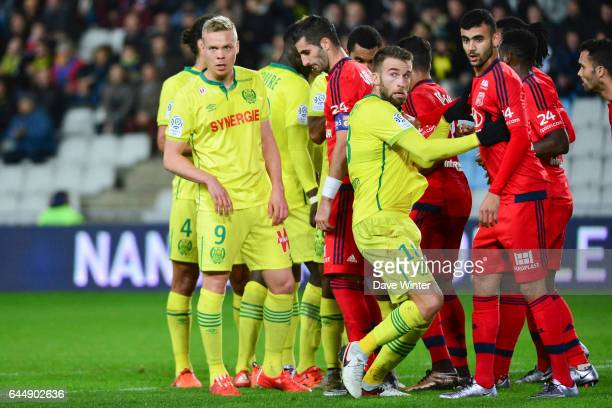 Lucas DEAUX / Rachid GHEZZAL Nantes / Lyon 16eme journee de Ligue 1 Photo Dave Winter / Icon Sport