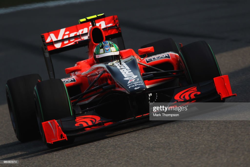 Lucas Di Grassi of Brazil and Virgin GP drives during practice for the Chinese Formula One Grand Prix at the Shanghai International Circuit on April 16, 2010 in Shanghai, China.