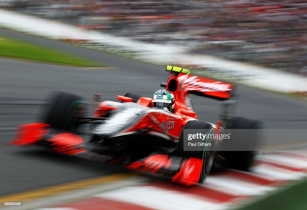 Lucas Di Grassi of Brazil and Virgin GP drives during qualifying for the Australian Formula One Grand Prix at the Albert Park Circuit on March 27, 2010 in Melbourne, Australia.