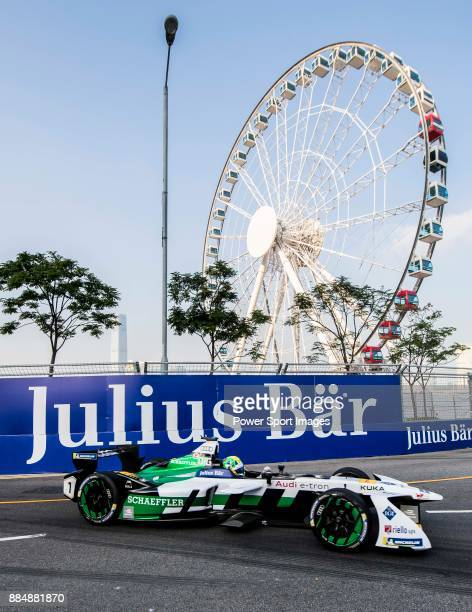 Lucas di Grassi of Brazil from Audi Sport ABT Schaeffler competes during the FIA Formula E Hong Kong EPrix Round 2 at the Central Harbourfront...