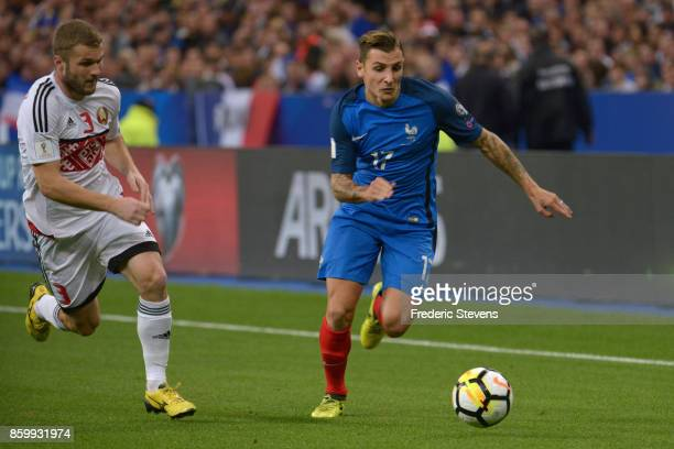 Lucas Digne defender of France Football team during the FIFA 2018 World Cup Qualifier between France and Belarus at Stade de France on October 10...