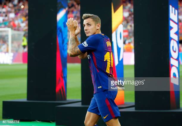 Lucas Digne during the presentation of the team 201718 in Barcelona on August 07 2017 Photo JoanValls/Urbanandsport/Nurphoto