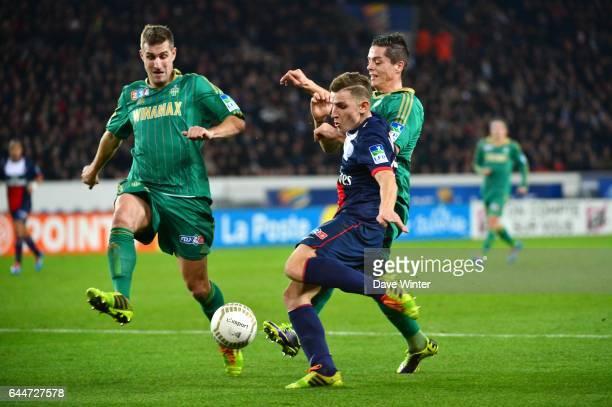 Lucas DIGNE / Francois CLERC / Romain HAMOUMA Paris Saint Germain / Saint Etienne 1/8Finale Coupe de la Ligue Photo Dave Winter / Icon Sport
