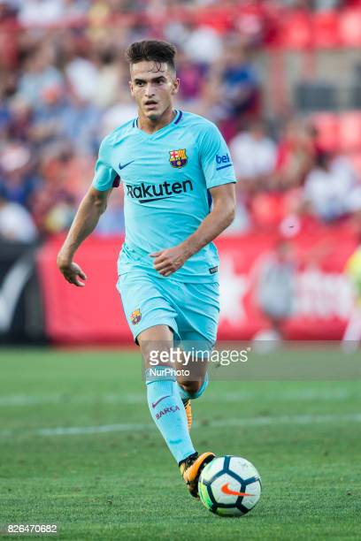 19 Lucas Digne from France of FC Barcelona during the friendly match between Nastic vs FC Barcelona at Nou Estadi de Tarragona on August 4th 2017 in...