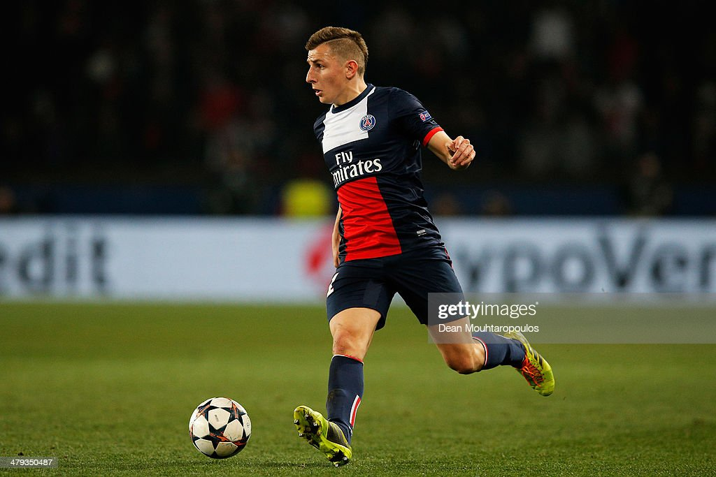 <a gi-track='captionPersonalityLinkClicked' href=/galleries/search?phrase=Lucas+Digne&family=editorial&specificpeople=5805298 ng-click='$event.stopPropagation()'>Lucas Digne</a> of PSG in action during the UEFA Champions League Round of 16 second leg match between Paris Saint-Germain FC and Bayer Leverkusen at Parc des Princes on March 12, 2014 in Paris, France.