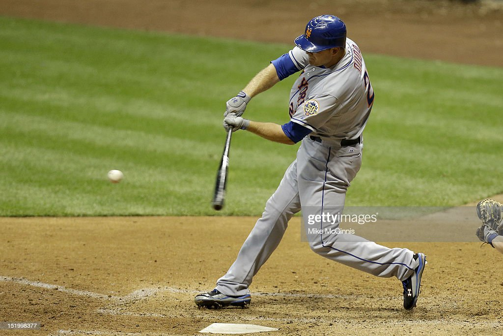 <a gi-track='captionPersonalityLinkClicked' href=/galleries/search?phrase=Lucas+Duda&family=editorial&specificpeople=7172550 ng-click='$event.stopPropagation()'>Lucas Duda</a> #21 of the New York Mets hits a solo home run over the centerfield fence in the top of the sixth inning against the Milwaukee Brewers at Miller Park on September 14, 2012 in Milwaukee, Wisconsin.