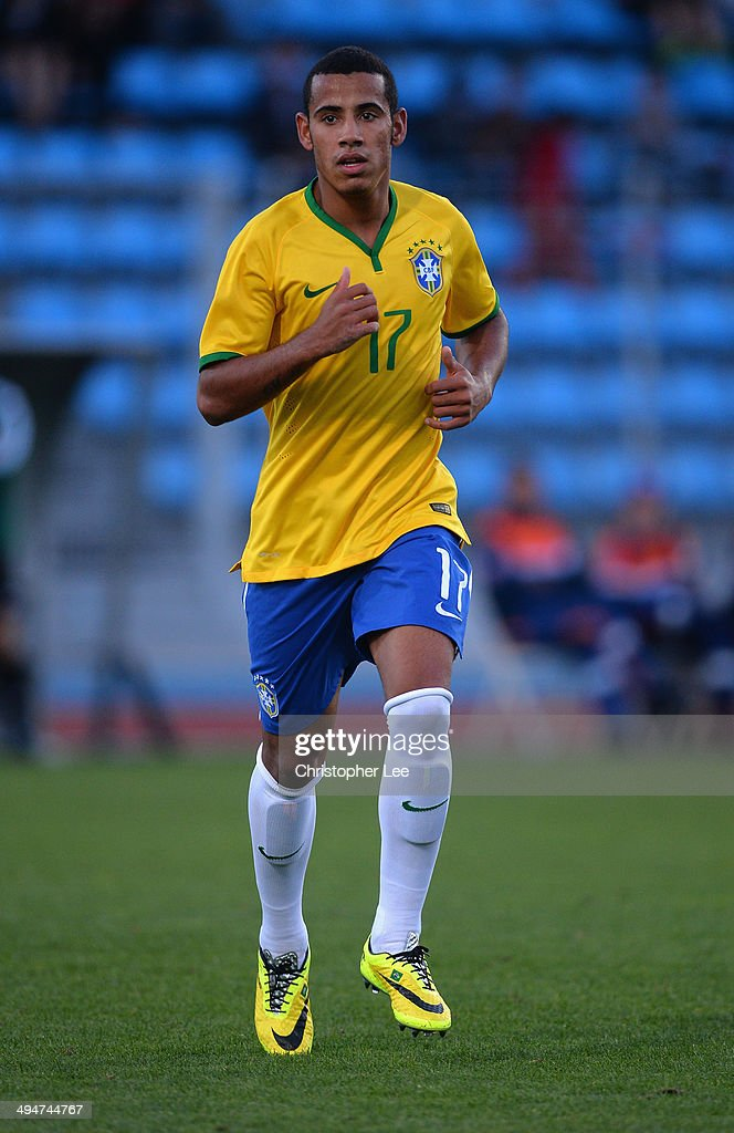 <a gi-track='captionPersonalityLinkClicked' href=/galleries/search?phrase=Lucas+Evangelista&family=editorial&specificpeople=11207581 ng-click='$event.stopPropagation()'>Lucas Evangelista</a> of Brazil during the Toulon Tournament Group B match between Brazil and Qatar at the Leo Legrange Stadium on May 30, 2014 in Toulon, France.