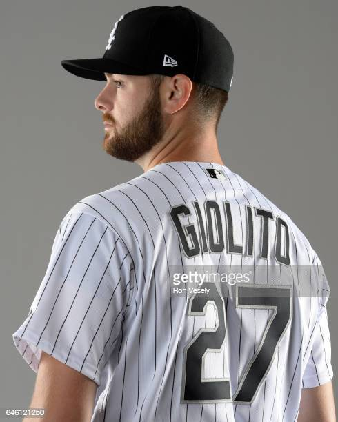 Lucas Giolito of the Chicago White Sox poses for a portrait during Photo Day on February 23 2017 at Camelback Ranch in Glendale Arizona