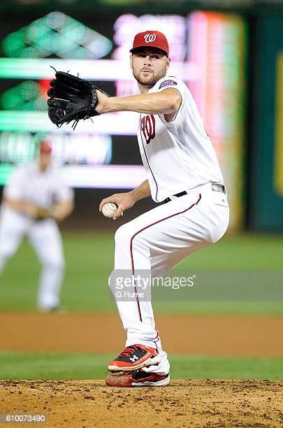 Lucas Giolito of the Washington Nationals pitches against the Atlanta Braves at Nationals Park on September 7 2016 in Washington DC