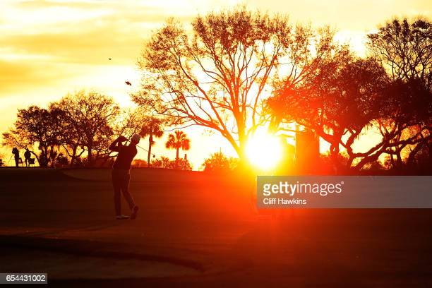 Lucas Glover of the United States plays a shot on the tenth hole during the second round of the Arnold Palmer Invitational Presented By MasterCard on...