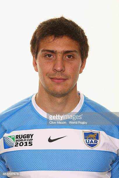 Lucas Gonzalez Amorosino of Argentina poses for a portrait during the Argentina Rugby World Cup 2015 squad photo call at the Marriott Hotel on...