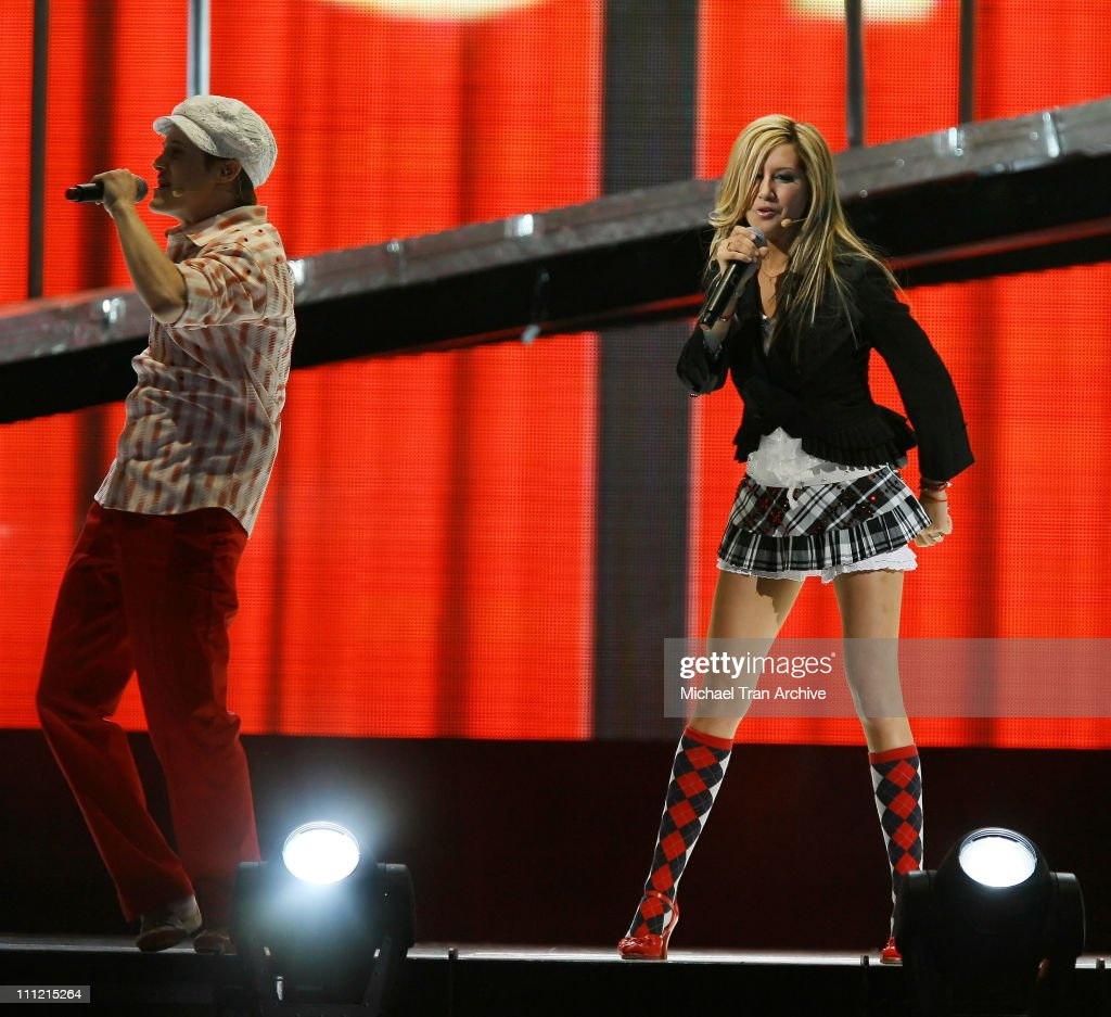 Lucas Grabeel and Ashley Tisdale during 'High School Musical' In Concert December 28 2006 at Verizon Wireless Center in Washington DC Washington DC...